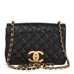 Chanel Black Quilted Lambskin Small Vintage XL
