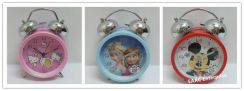 Kitty Frozen Mickey Twin Bell Alarm Clock for Kids