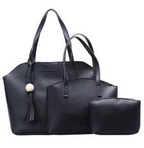 Korean Style [3-in-1] Women Bag Black Handbag