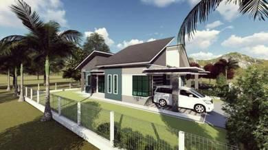 Rumah Kediaman Kekal Semi-D Binjai Rendah, Terengganu