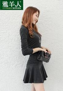 Female Fashion Long Sleeve Dress - Size XL