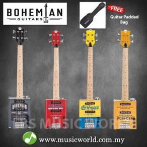Bohemian oil can bass guitar