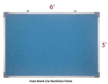 Foam Notice Board 4'x6'~ Siap Hantar & Pasang
