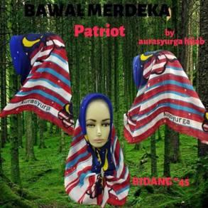 Tudung Merdeka Patriot (Cotton)