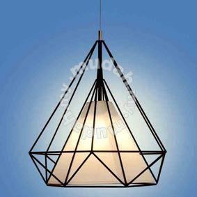 Hedron Pendant Lamp, Black/White