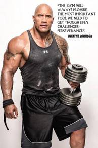 Poster THE ROCK GYM MOTIVATION 1BODYBUILDER