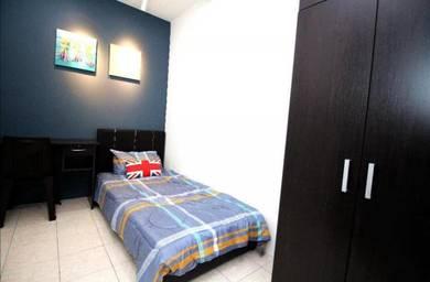 Near MRT,Male unit,Near Segi,Hospital,NEW Fully furnish,FREE utility