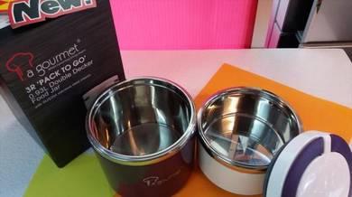 0%gst New Lagourmet 0.93L Stainless Steel Food JAR
