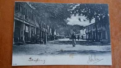 Antik Postcard Malaya TAIPING 1900s PC 302 RARE