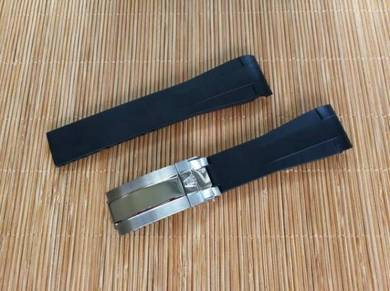 RO LEX 20mm Black Sport Watch Strap