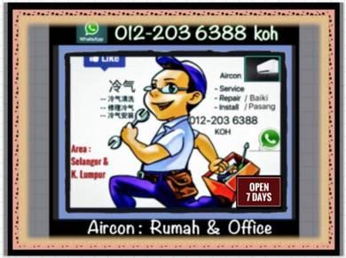 Aircond 7 days/w aircon SEL&KL- Setiawangsa dll