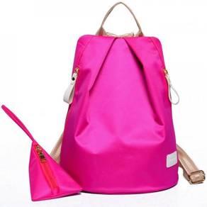 2526 Korean Pink [2-in-1] Travel Bag Lady Backpack