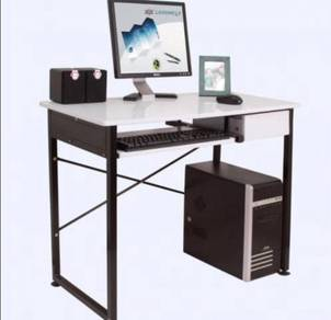 SOHO Workstation With Keyboard Tray & Side Drawer