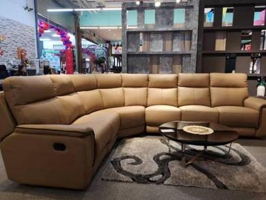 A-tech leather corner sofa with 2 recliner