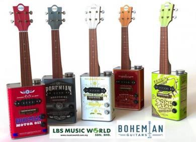 Bohemian ukuleles bohemian oil can ukulele
