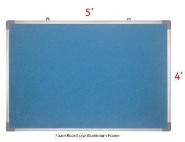 Foam Notice Board 4'x5'~ Siap Hantar & Pasang