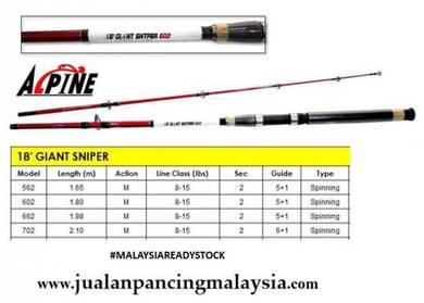 Alpine 2018 giant sniper rod