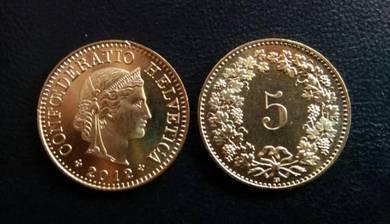Switzerland Coins 5 Rappen 2012 new unc 1 pcs