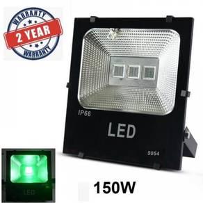 30W 50W 100W 150W Lampu Spotlight Hijau- Green LED