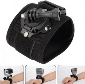 360 degree Rotation wrist hand strap Go-Pro Holder