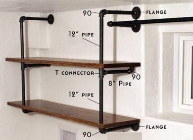 Pipe flange / DIY your own Pipe rack or shelf