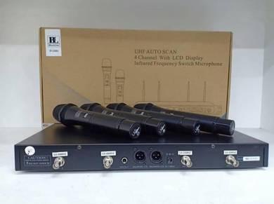 Blackline IR3388U UHF Quad CH Wireless Mic