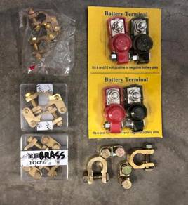 Car battery terminal clip copper brass