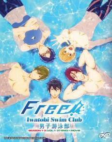 Free! Iwatobi Swim Club Season 1-3 Movie Anime DVD