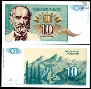 Yugoslavia 10 dinars p 138 unc