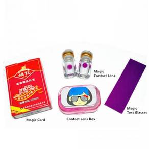 Magic Invisible Ink Poker Cards+UV Contact Lenses