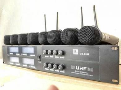 Blackline UR8388 UHF 8 Channel Wireless Mic