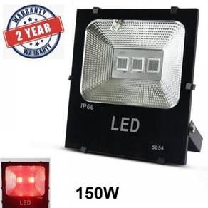 30W 50W 100W 150W Lampu Spotlight Merah- Red LED