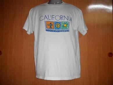 Vtg carlifonia 50-50 white tshirt