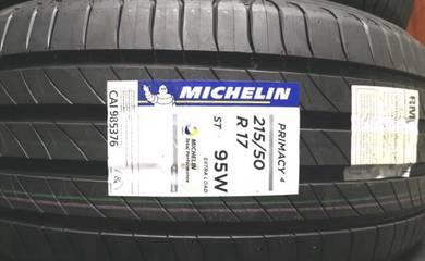 Tayar Michelin Primacy 4 215 50 17 Tyre New 2020