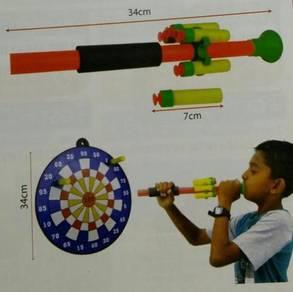 Blowpipe & Dartboard Set