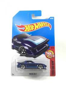 Hotwheels Then And Now Mazda RX-7 #4 Blue