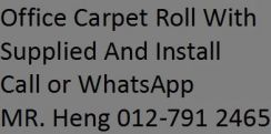 Office Carpet Roll Supplied and Install CTH