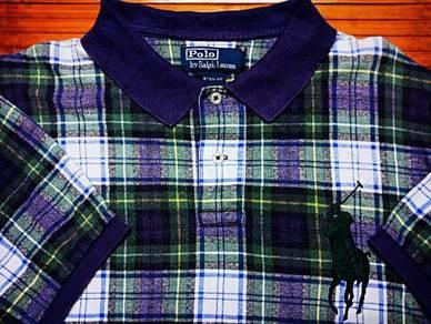 POLO RALPH LAUREN BLUE PLAID BIG PONY XLPolo Shirt