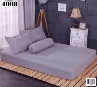 Cadar FITTED Plain 4 in 1 Bedsheet Cotton - 4008