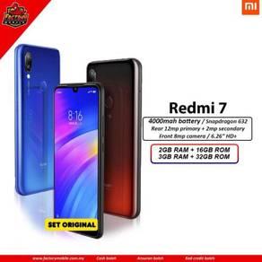 New Xiaomi Redmi 7 Msia Set + gift rm1000