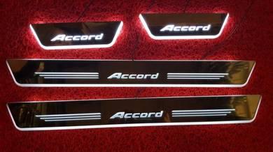 Honda accord led scuff plate led side steel plate