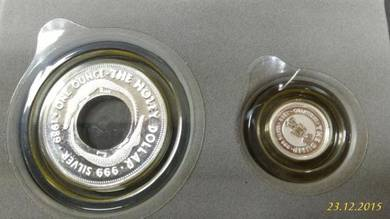 1989 The Holey 1 & The Dump 25c Solid Silver Coin