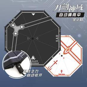 Anime SAO Kirito Asuna Folding Umbrella