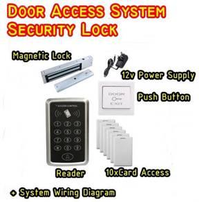 Door access magnetic lock system installation