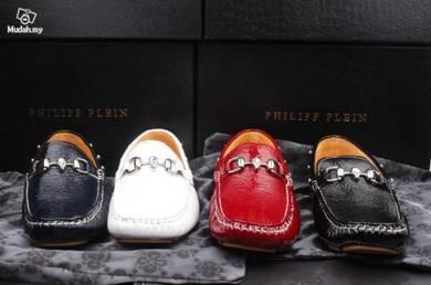 Rivet leather shoes men's boat shoes Peas