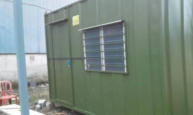 10ft x 20ft cabin offis / cabin besi / kontena