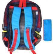 Mesh Back Pack (Red/ Blue)