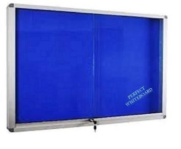 Sliding Glass Foam Notice Board 4'x4'~Siap Pasang