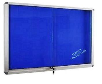 Sliding Glass Foam Notice Board 3'x4'~Siap Pasang