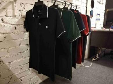 Fred Perry POLO Shirt Premium Casual Plain Color